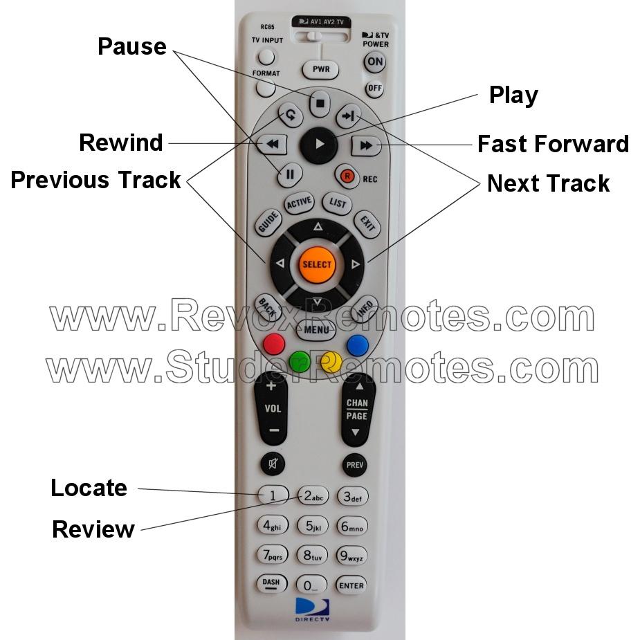 directv rc 65 instructions rh revoxremotes com Dish Remote Guide Direct TV Remote Instruction Guide